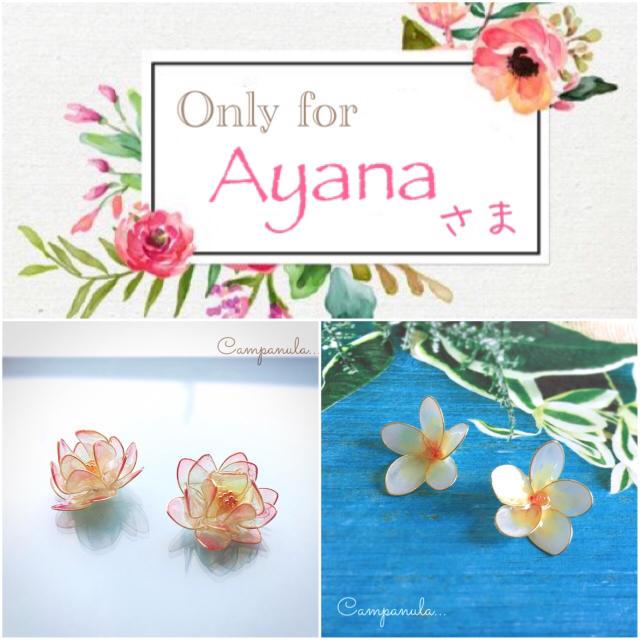 Ayanaさま専用ページ ハンドメイドのアクセサリー(ピアス)の商品写真