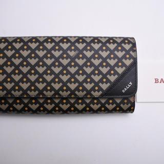 バリー(Bally)のバリー 長財布 二つ折り財布 サイフ PVCレザー ブラック カーキ 未使用 (折り財布)