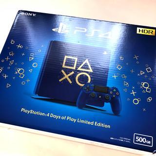 プレイステーション4(PlayStation4)の新品 未開封プレイステーション 4」「DAYS OF PLAY」特別デザイン仕様(家庭用ゲーム機本体)