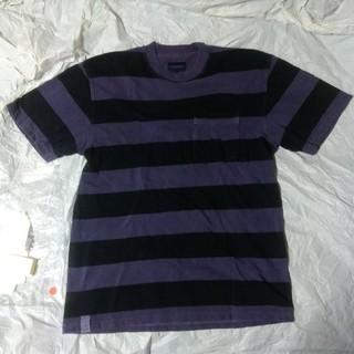 ダブルタップス(W)taps)のDESCENDANT 18SS新作ボーダーTシャツ パープル (Tシャツ/カットソー(半袖/袖なし))