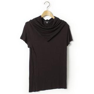 ダミールドーマ(DAMIR DOMA)の中古美品unconditionalドレープスカーフネック変形TシャツXS(Tシャツ/カットソー(半袖/袖なし))