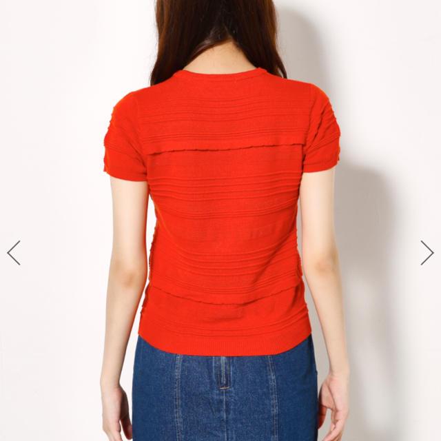 SLY(スライ)のsly♡オレンジニット レディースのトップス(Tシャツ(半袖/袖なし))の商品写真