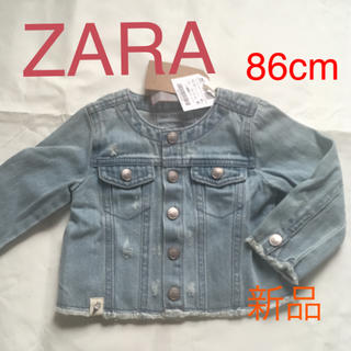 ザラ(ZARA)のベビー服 ZARA デニム 女の子 新品 未使用 タグ付き(ジャケット/コート)