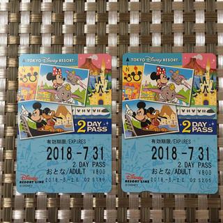 ディズニー(Disney)のディズニー リゾートライン 2枚(鉄道乗車券)