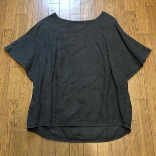 ツムグ(tumugu)のtumugu リネン100%フレア袖ブラウスプルオーバ(シャツ/ブラウス(半袖/袖なし))