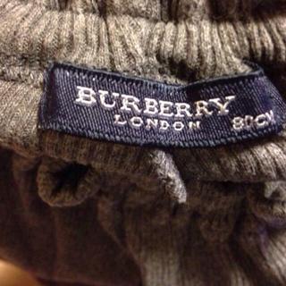 バーバリー(BURBERRY)のバーバリー 80 ズボン グレー(その他)