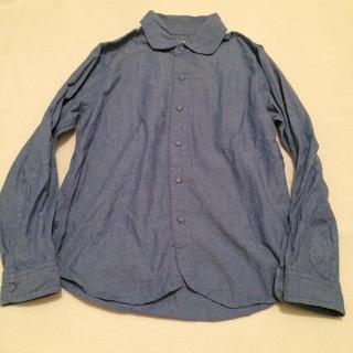 オールオーディナリーズ(ALL ORDINARIES)のALL ORDINARIES 丸襟 ダンガリー シャツ(シャツ/ブラウス(長袖/七分))