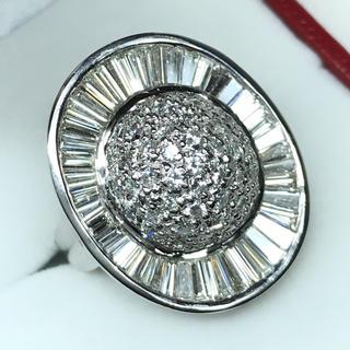 1267 ダイヤモンド 3.15ct pt900 プラチナ リング 12号(リング(指輪))