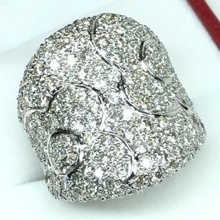 1269 ダイヤモンド 3.08ct WGK18 ホワイトゴールドリング 12号(リング(指輪))