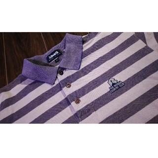 アシュワース(Ashworth)の上質/Ashworth/アシュワース/ボーダー/ポロシャツ/アメリカ製/ゴルフ(ポロシャツ)
