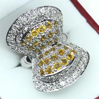 1270 イエローサファイア2.32ct ダイヤモンド プラチナリング 12号(リング(指輪))