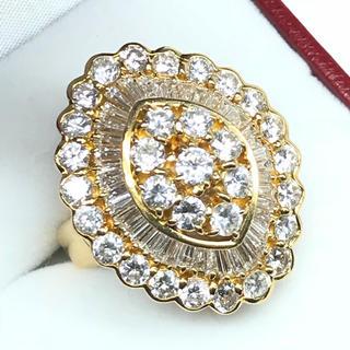 1272 ダイヤモンド 5.09ct YGK18 イエローゴールドリング 13号(リング(指輪))