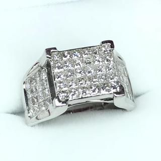 1273 ダイヤモンド  WGK18 ホワイトゴールド リング 11号(リング(指輪))