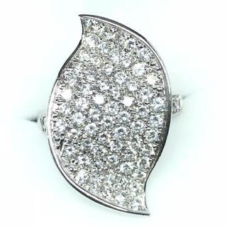 1274 ダイヤモンド1.75ct K18WG ホワイトゴールドリング 12号(リング(指輪))
