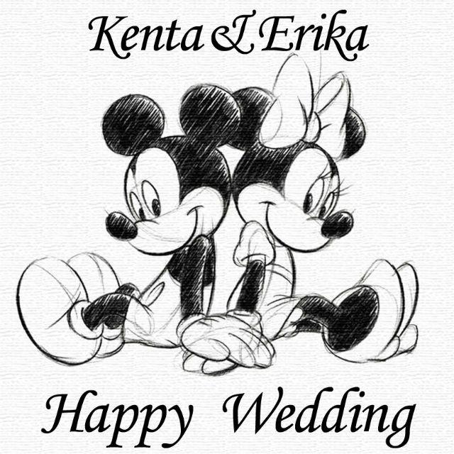Disney 名前入れ可能結婚誕生日祝いなどにディズニーミッキー