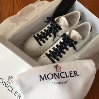モンクレール(MONCLER)のモンクレール モナコ オールレザー スニーカー 未使用❣️(スニーカー)
