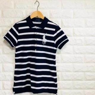 ラルフローレン(Ralph Lauren)のRALPH LAUREN デカロゴ ボーダーポロシャツ(ポロシャツ)