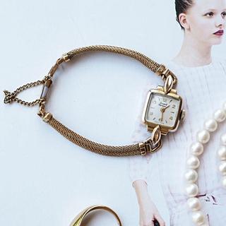 ジラールペルゴ(GIRARD-PERREGAUX)の美品・希少✨ジラールペルゴ K18GF アンティーク✨トゥモローランド(腕時計)