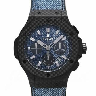 ウブロ(HUBLOT)の① 2018.5購入 ウブロ ビッグバン  ジーンズ カーボン  中古品(腕時計(アナログ))