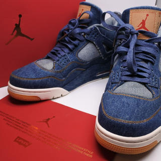 ナイキ(NIKE)のNIKE AIR JORDAN 4 RETRO x LEVI'S us10 28(スニーカー)