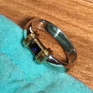 ティファニー(Tiffany & Co.)のティファニー リング 指輪 ヴィンテージ    サファイア コンビ(リング(指輪))