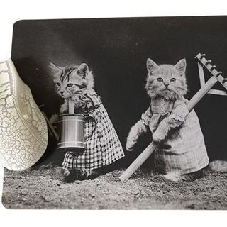 猫 猫マウスパッド かわいい2匹ねこちゃんマウスパッド♪ 新品未使用品(猫)