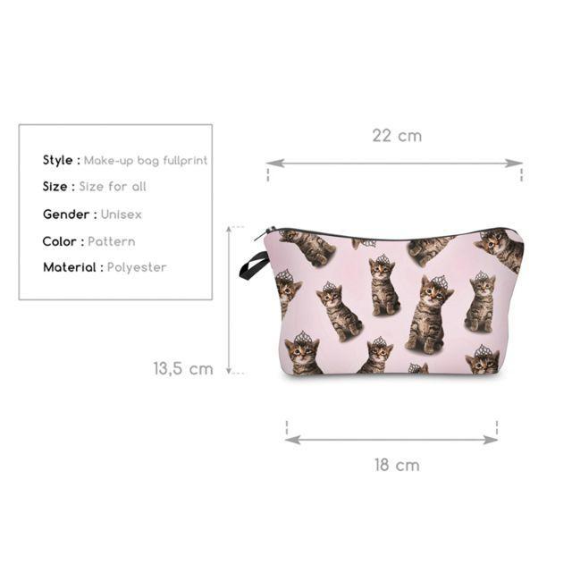 猫ポーチ 猫コスメポーチ♪ ティアラ猫ちゃん♪「新品未使用品 送料無料」 レディースのファッション小物(ポーチ)の商品写真