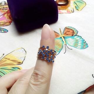 サンタモニカ(Santa Monica)のused 古着屋さん☆氷のつぶみたいな涼しげリング♪指輪刻印なし♪軽い(リング(指輪))