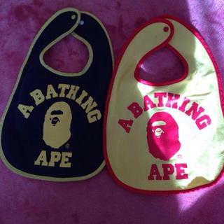 アベイシングエイプ(A BATHING APE)のBAPEKIDS☆スタイ二枚セット☆(その他)
