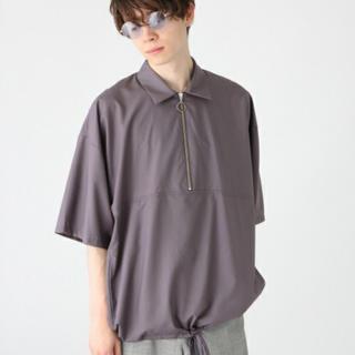 ハレ(HARE)のHARE ハーフジップ プルオーバー パープル(Tシャツ/カットソー(七分/長袖))