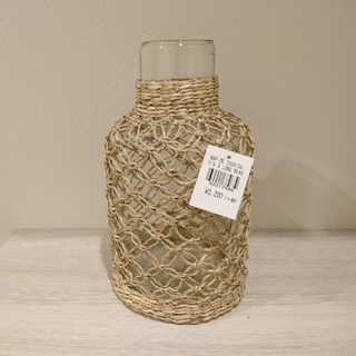 アクタス(ACTUS)のガラスとラタンのフラワーベース✨(花瓶)