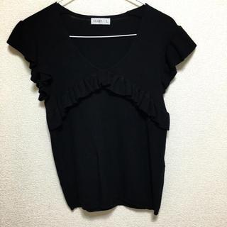 シマムラ(しまむら)の半袖フリルニット(ニット/セーター)