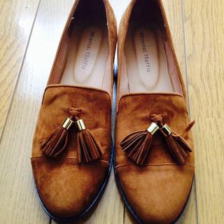 オリエンタルトラフィック(ORiental TRaffic)のタッセルシューズ♡キャメル(ローファー/革靴)