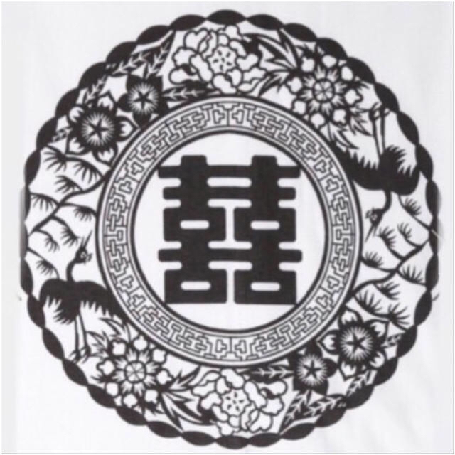 FUNKY FRUIT(ファンキーフルーツ)の[Drug] 双喜紋中華柄プリントTシャツ レディースのトップス(Tシャツ(半袖/袖なし))の商品写真
