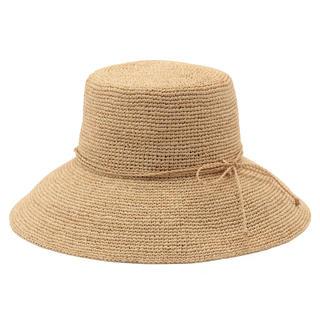 ムジルシリョウヒン(MUJI (無印良品))の新品  無印良品 サイズ調節できるラフィアたためるつば広キャペリン   (麦わら帽子/ストローハット)