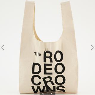 ロデオクラウンズワイドボウル(RODEO CROWNS WIDE BOWL)の定価!!Rロゴ ショッピング MINI バッグ 新品(エコバッグ)