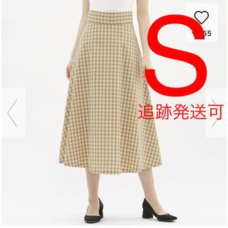 ジーユー(GU)の新品♡GU フレアロングスカート ギンガムチェック(ロングスカート)