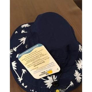 コストコ(コストコ)のサンプロテクションゾーン  キッズ 帽子 アウトドア   ヤシの木柄(ネイビー)(帽子)