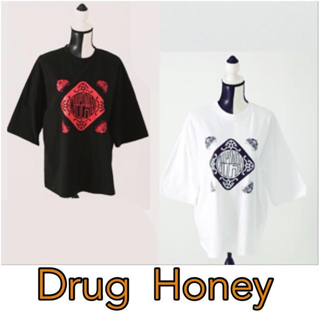 FUNKY FRUIT(ファンキーフルーツ)の[Drug]中華柄プリント半袖トップス レディースのトップス(Tシャツ(半袖/袖なし))の商品写真