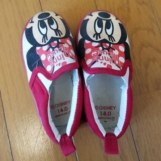 ディズニー(Disney)のミニーちゃん スリッポン 14cm(スリッポン)