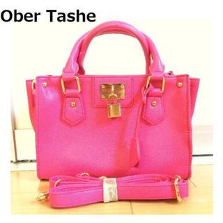 オーバータッシェ(Ober Tashe)の未使用 OBER TASHE ハンドバッグ 3249 キー付き ケリー型 (ハンドバッグ)