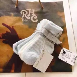 ロンハーマン(Ron Herman)のレア 新品 ロンハーマン RH RonHerman ベビー靴下 3足 未使用(靴下/タイツ)