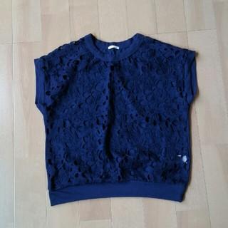 ジーユー(GU)のGU☆シャツ紺(シャツ/ブラウス(半袖/袖なし))