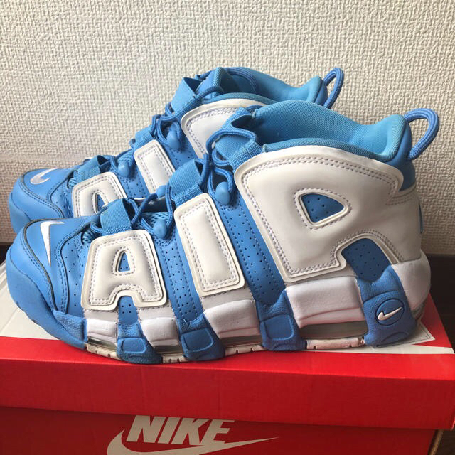 NIKE air more uptempo モアテン 水色