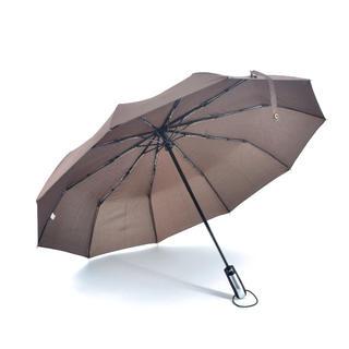 自動開閉らくらく折り畳み傘 男女兼用 大型サイズ 直径105㎝ ブラウン(傘)