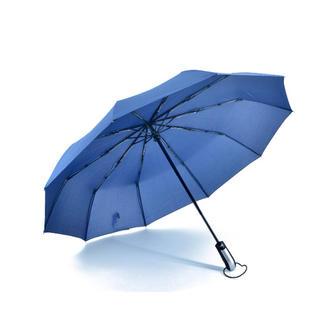 自動開閉らくらく折り畳み傘 男女兼用 大型サイズ 直径105㎝ 青(傘)