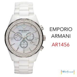 Emporio Armani - エンポリオアルマーニ AR1456 ホワイト×クリスタル メンズ腕時計 新品