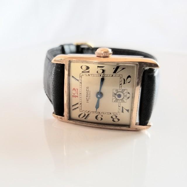 huge selection of 23a39 c3d90 ★50年代アンティーク エルメス スクエア 腕時計 手巻 ゴールドプレート