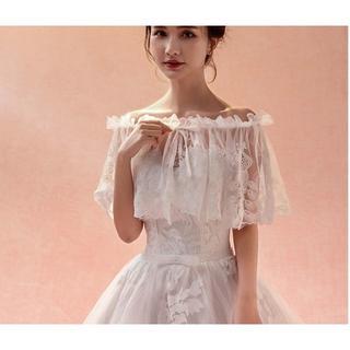 ウエディング ドレス ケープ ショール ホワイト(その他)