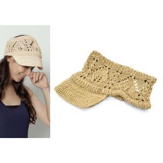 クール(coeur)の美品 coeur femme クール ファム コットン ニットキャップ 帽子 (キャップ)